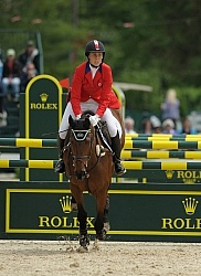 Rebecca Howard and Riddle Master Rolex 2011 Arena Footing