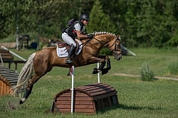 Tonya Cummins and Get Smart Leg Protection Eventing