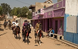 Riding Through the Villages in india