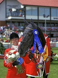 Beth Underhill and Monopoly Spruce Meadows 1994