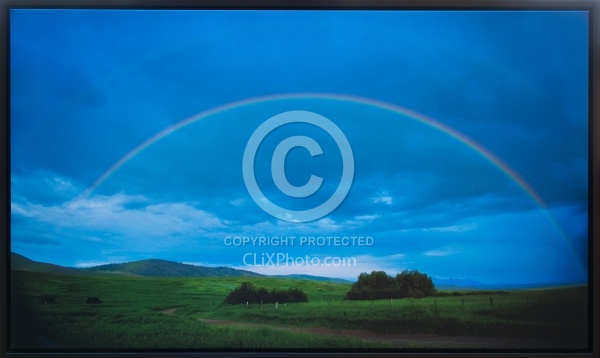Road to the Rainbow 21.5 x 36.5 Canvas Wrap Black Frame LE to 40  850.00