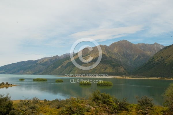 View of Lake Hawea on Ride from Boundary Hut to Dingleburn Station