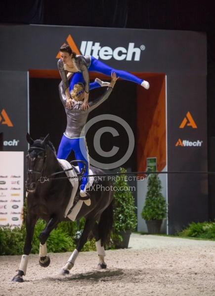 Angelique and Jeanine Van der Sluus Pas de Deux WEG 2014 Normand